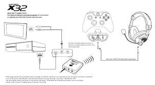 x32 xbox one setup diagram turtle beach x32 xbox one setup diagram
