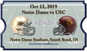 Notre Dame Fighting Irish Vs Usc Trojans Football Tickets