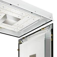 Clean Room Lighting Fixtures Surface Mounted Light Fixture Led Fluorescent Square