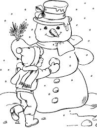 Kleurplaat Kerst Kleurplaat Kerst Sneeuwpop Animaatjesnl