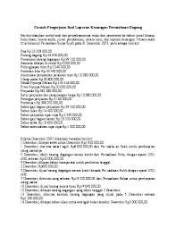 Berikut disajikan contoh soal dan penyelesaiannya mulai dari pencatatan ke dalam jurnal khusus buku besar neraca saldo jurnal penyesuaian neraca lajur dan laporan keuangan. Doc Contoh Soal Dan Pembahasan Laporan Keuangan Perusahaan Dagang Chintiya Huang Academia Edu