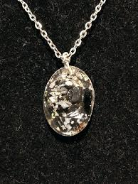 image 0 oval pendant necklace large locket snowflake obsidian stone