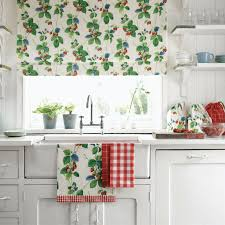 Strawberry Kitchen Curtains Sanderson Traditional To Contemporary High Quality Designer