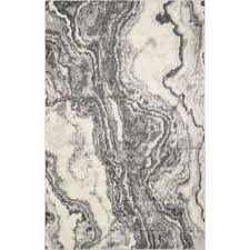 watercolors ivory grey 3 ft x 5 ft marble area rug
