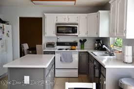 Diy White Kitchen Cabinets Painting Kitchen Cabinets Grey And White Awsrxcom