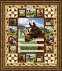 183 best Quilt Settings images on Pinterest | Easy quilts, Jelly ... & SPX Fabrics: World of Horses ~ quilt idea Adamdwight.com
