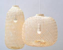 etsy lighting pendants. Bamboo Pendant Light, Repurposed Fish Trap Ceiling Lamp, Asian Oblong/Round Woven Etsy Lighting Pendants S