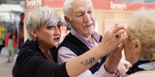 83 year old man is taking makeup lessons to help his wife who s losing her eyesight