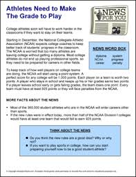 How To Make Good Grades News For You Athletes Need To Make The Grade To Play Education World