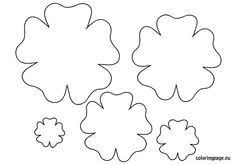 Small Paper Flower Templates Small Layered Flower Template To Print Google Search Printables