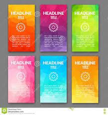 Design Flyer App Design Template Set Of Web Backgrounds Brochure Flyer