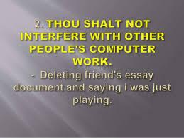 commandments of computer ethics example 3