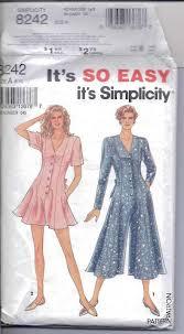Simplicity Jumpsuit Pattern Simple Simplicity 48 Sewing Pattern Misses Jumpsuit Size 48148 Uncut A EBay