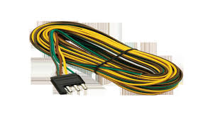 wesbar 707261 wishbone style trailer wiring harness 4 flat wesbar 707261 wishbone style trailer wiring harness 4 flat connector