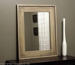 wood bathroom mirror digihome weathered: wood bathroom mirror digihome weathered light wooden bathroom mirror natural steaky rectangular handmade high quality material door decorative