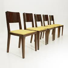 italian wooden furniture. Set Of 5 Italian Wooden Art Deco Dining Chairs, 1940s Furniture