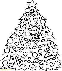 Coloring Page Of Christmas Tree Valid Pagesintable Free