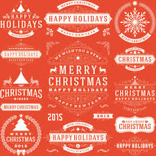 merry christmas and happy holidays clip art. Unique And 2015 Christmas With Happy Holiday Labels Vector On Merry Christmas And Happy Holidays Clip Art H