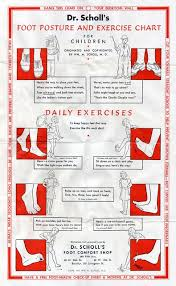 Foot Posture Exercise Chart For Children Originated And