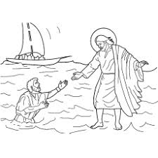 bible pictures for colouring. Delighful Bible Picture Of Jesus Walking On Water Coloring Page Inside Bible Pictures For Colouring