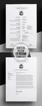 professional cv resume templates and cover letter design beautiful vertical design cv resume template