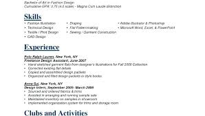 Technical Designer Resumes Fashion Resume Samples Technical Designer Sample Design Template Cv