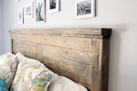 homemade wood headboards ana white reclaimed wood headboard queen size diy projects bedroom