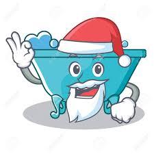 santa bathtub character cartoon style royalty free cliparts vectors