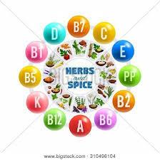 Vitamins Minerals Vector Photo Free Trial Bigstock
