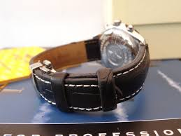 quality thick replacement deployment leather strap band to fit breitling watch