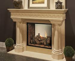 see through fireplace installeld all white in kansas city