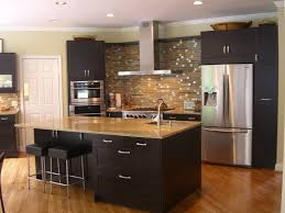 Kitchens With Dark Cabinets Kitchen Backsplash Ideas With Dark Cabinets Comfort Home Design