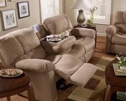 reclining sofa w drop down table to enlarge