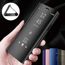 Luxury Flip Leather Stand Smart Mirror View Case For Samsung Galaxy S10 S10plus S10e For Huawei P30 P30pro For Iphone Xs Max Xr Xs X For Huawei P20pro