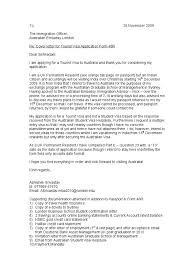 Sample Cover Letter For Student Visa Application Australia ...