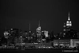 >photo print of manhattan night city lights new york city new york  manhattan night city lights new york city new york black and white