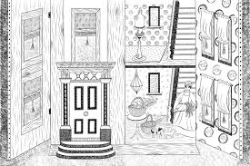unlock house coloring book the dolls colouring emily sutton 9781851778058 amazon