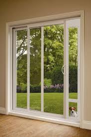 large view sliding glass door pet