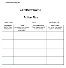 It Time And Action Template Calendar General Company Plan Example ...