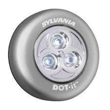 battery operated lighting home lighting. sylvania dotit led batteryoperated stickon tap light silver battery operated lighting home