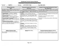 Professional Development Plan Sample Professional Development Plan Beneficialholdings 6