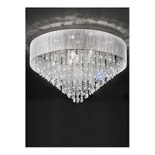 10 light ceiling fitting with silver