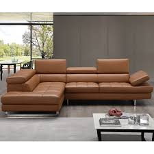 j m furniture 17855211 lhfc napoli a761 italian leather sectional in caramel w left facing chaise