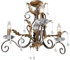 amarilli bronze gold 3 light chandelier made in britain