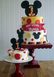 Baby Mickey Mouse Edible Cake Decorations Darlin Designs Mickey Mouse First Birthday Cake And Smash Cake