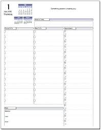 Daily Calendar Template 15 Minute Increments How To Print An Outlook ...