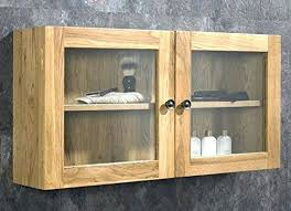 wooden wall cabinets with glass doors solid oak wall mounted double door bathroom glass cabinet wood wall cabinets with glass doors