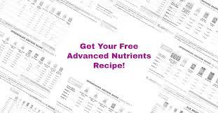 Veg Bloom Feed Chart Free Custom Advanced Nutrients Feeding Charts For You