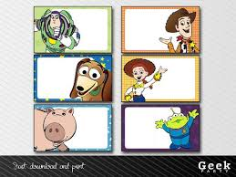 Toy Story Clouds Template Toy Story Labels Instant Download Printable Jessy Woody
