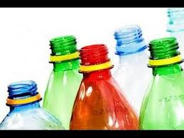 decoration with empty cold drink bottles